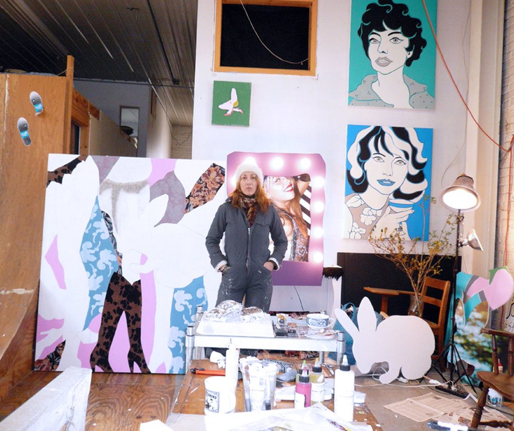 My Painting Studio, 2007, NYC-Brooklyn