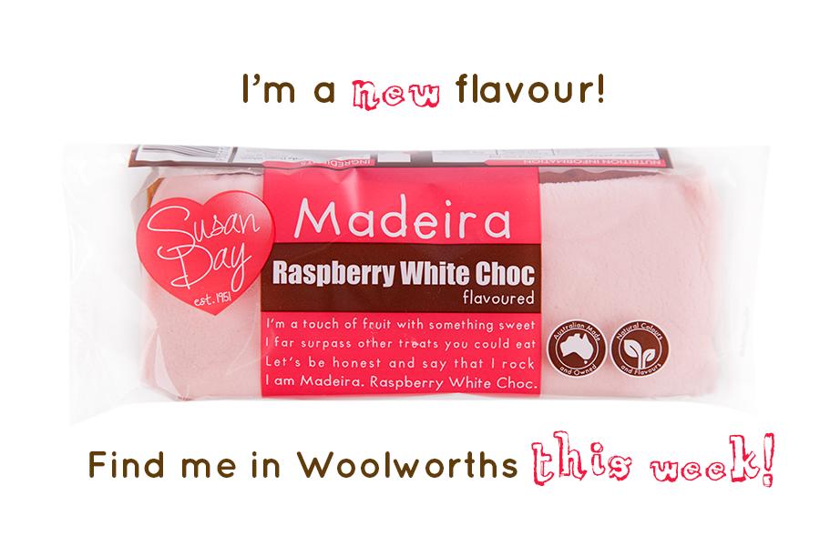 Raspberry White Choc Madeira