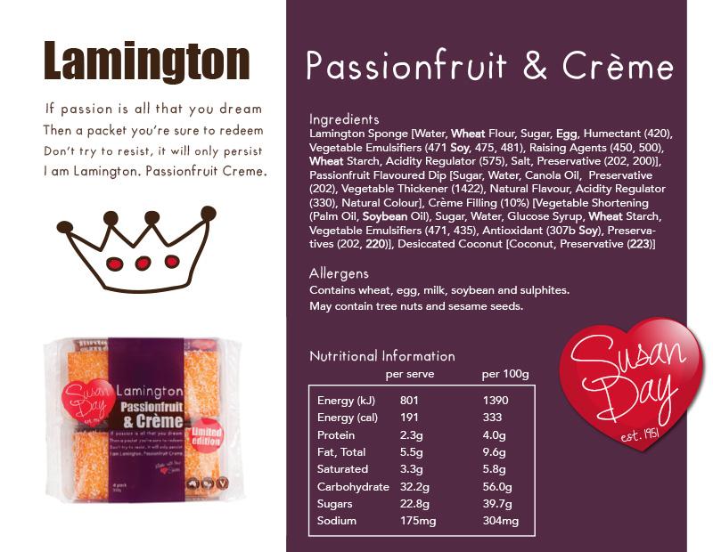 Passionfruit & Creme Lamington