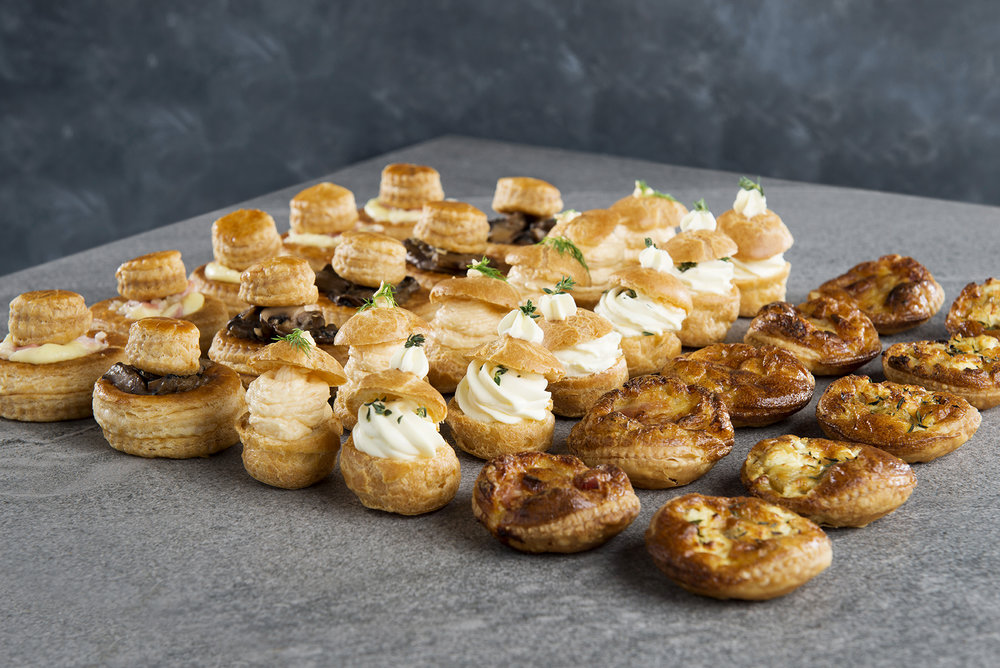 Selection of savoury petit fours - Click on image to enlarge