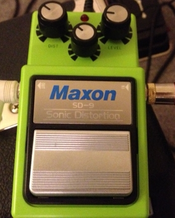 Maxon SD-9. This seems to be the hidden jewel of the Maxon line. Scott Henderson seems to love it, and I have heard some great tones. I will be pairing it with my Mesa 5:25 Express + and my Tri-Axis. And I'm definitely going to try feeding it with the EP Booster.