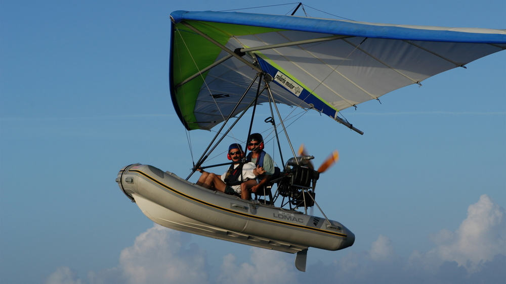 Flying Inflatable Boat!