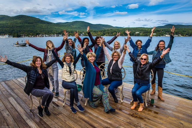 The twelve women selected for The Writers Lab 2018 at Lake George. Catherine Craig front right.