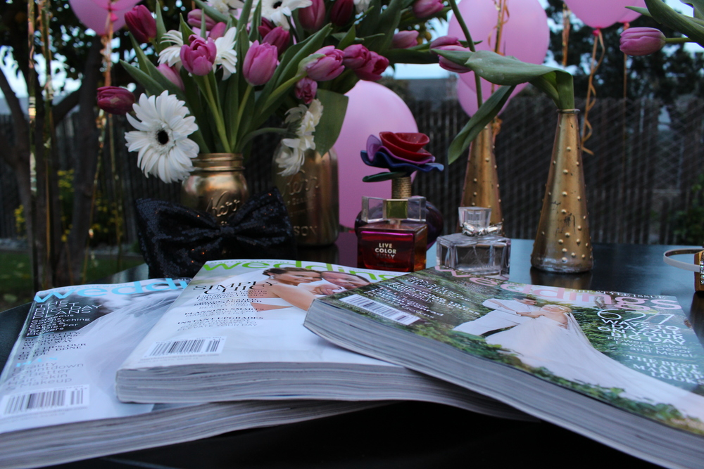 Fidel asked us to display her Martha Stewart Weddings magazines collection.