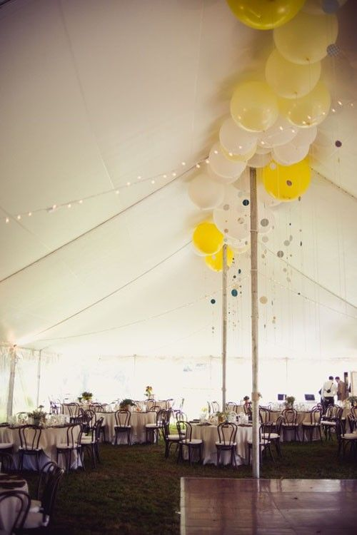Helium Balloons with floating garlands on HelloFriendBlog