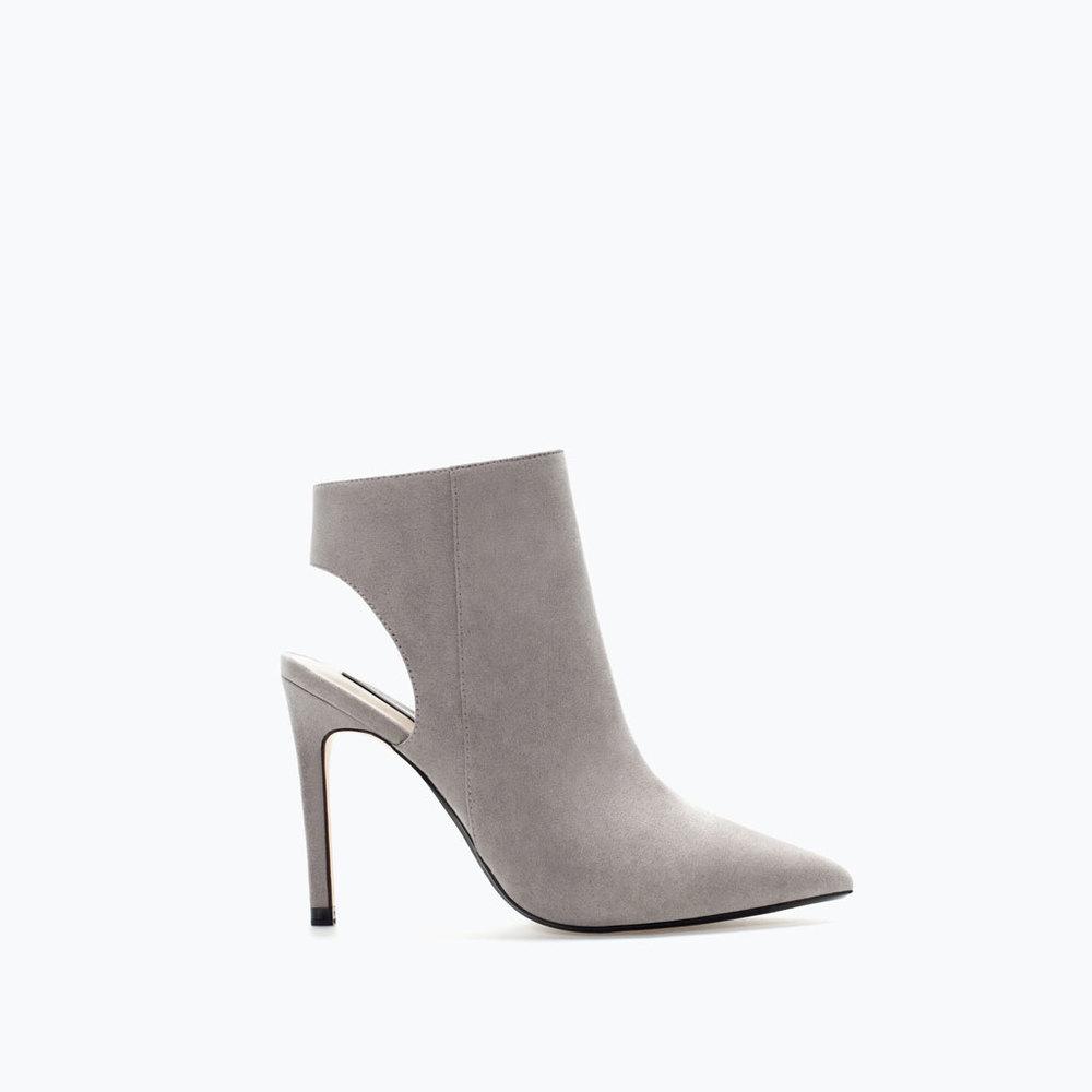 zara high heeled sling back bootie $59