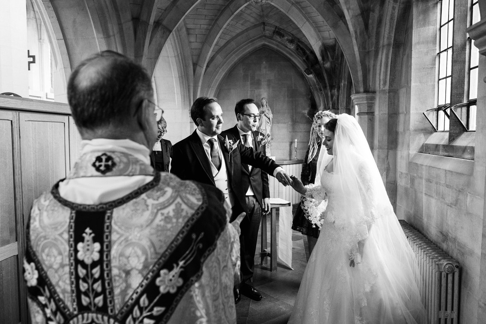 douai abbey wedding photography