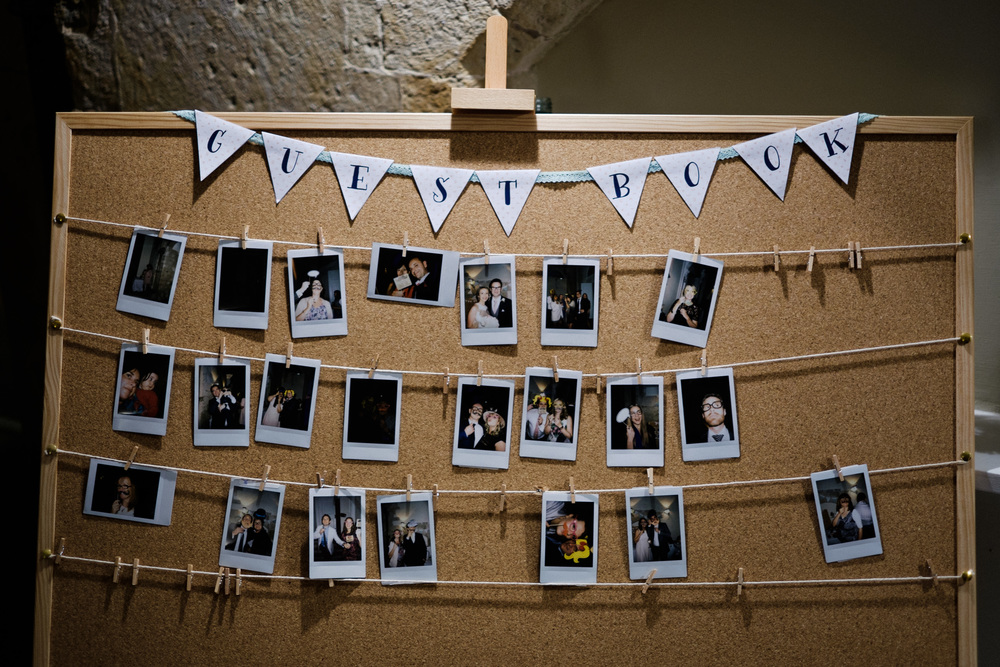 polaroid wedding
