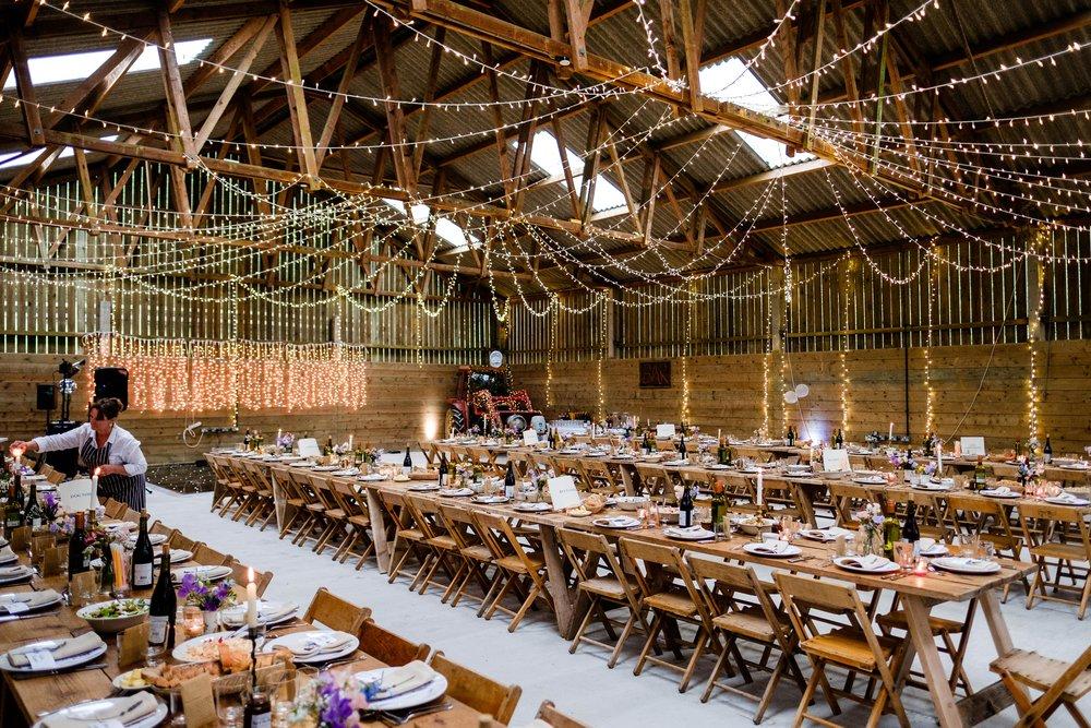 farm wedding - gorgeous barn decorations