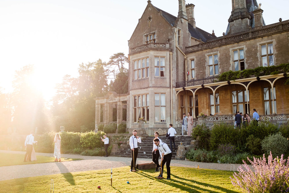 orchardleigh house wedding lawn games