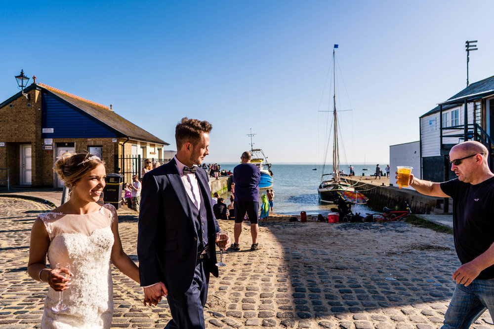 Seaside Wedding Photography - Leigh on Sea