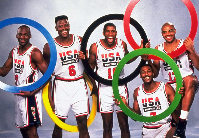 Jordan, Ewing, Magic, Malone y Barkley.