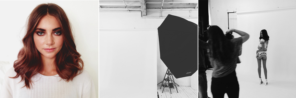 behind the scenes shooting ladyluna's fall lookbook in the studio + campaign in sunny sydney.