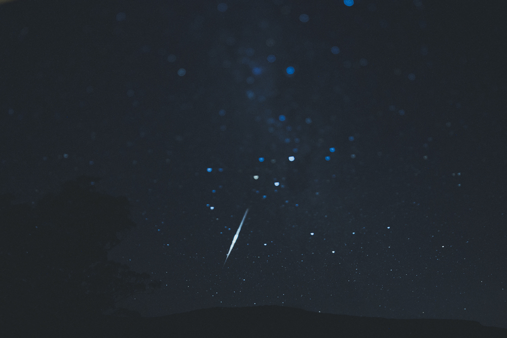 I caught a shooting star while taking pictures of the millions of stars. I love staring at the sky when there is absolutely no light pollution around.