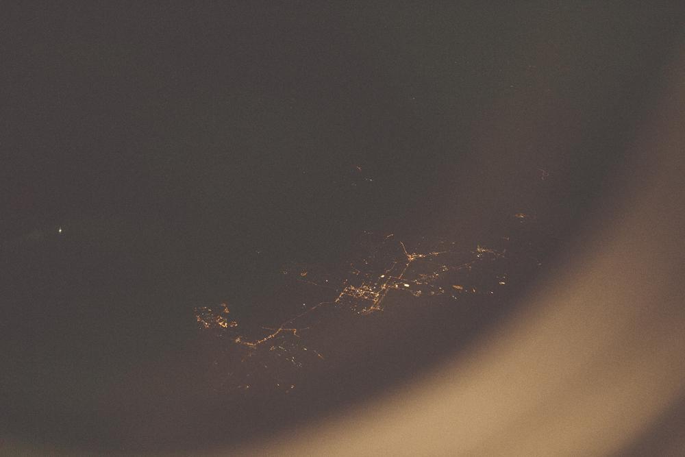 Flying back home.