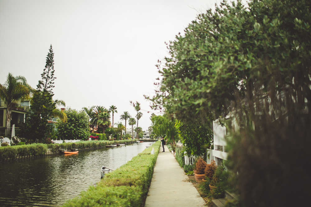 walking along the venice canals.