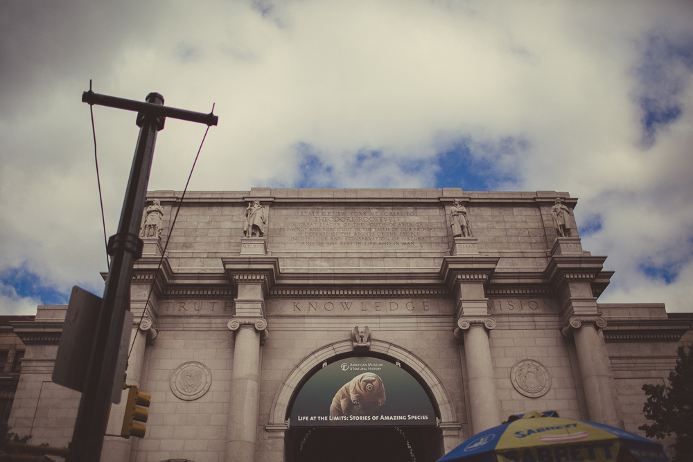 after spending an early morning walking through central park, we arrive at the natural history museum before it opened.