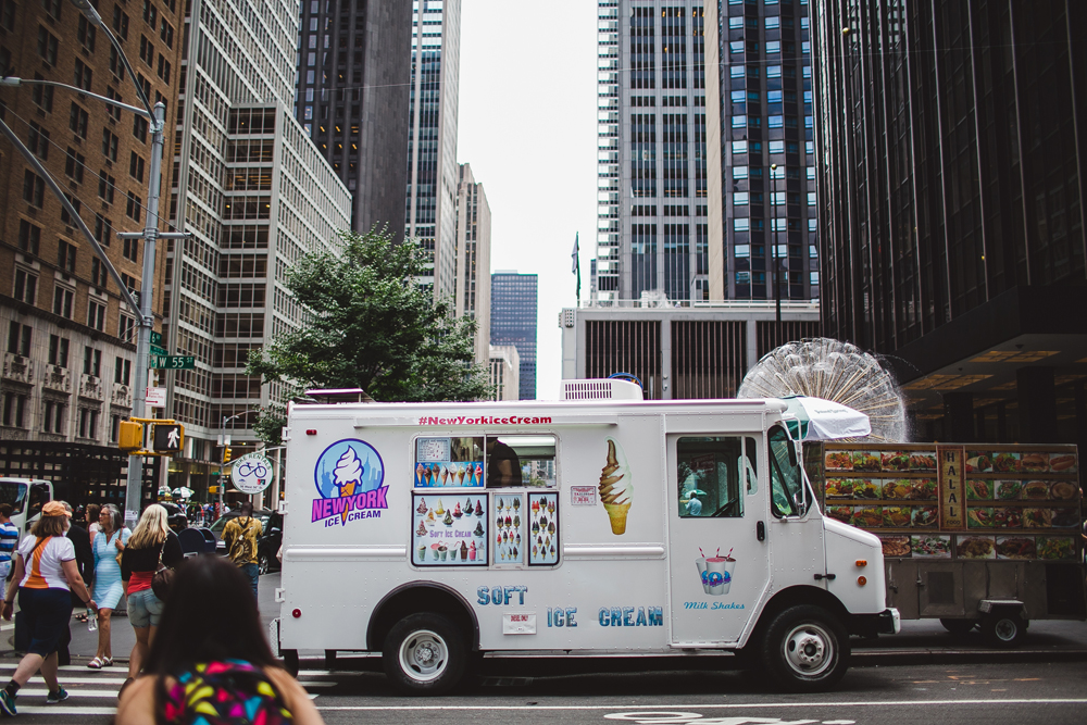 ice cream trucks on every corner.