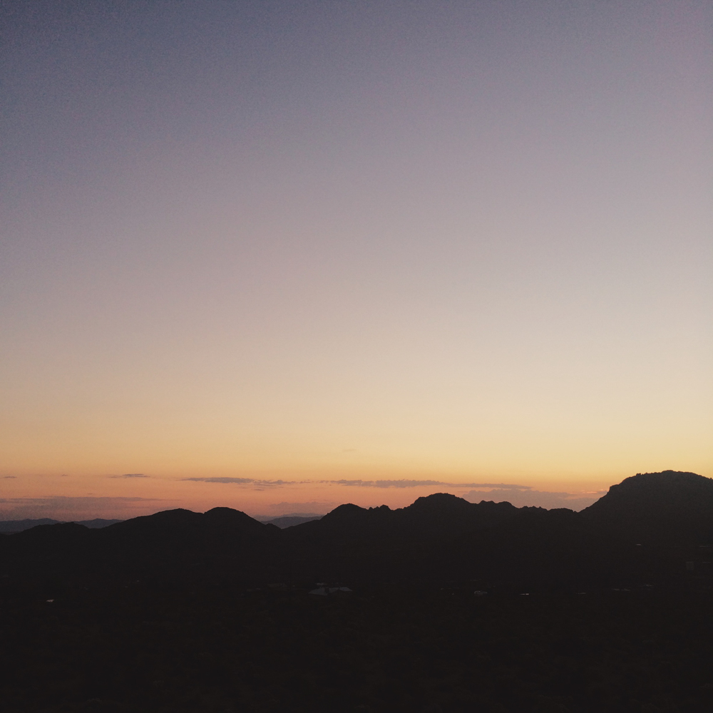 Dusk on our first night at Joshua Tree. We could hear coyotes howling at all hours of the night and the stars shined brighter than anything I've ever seen before.