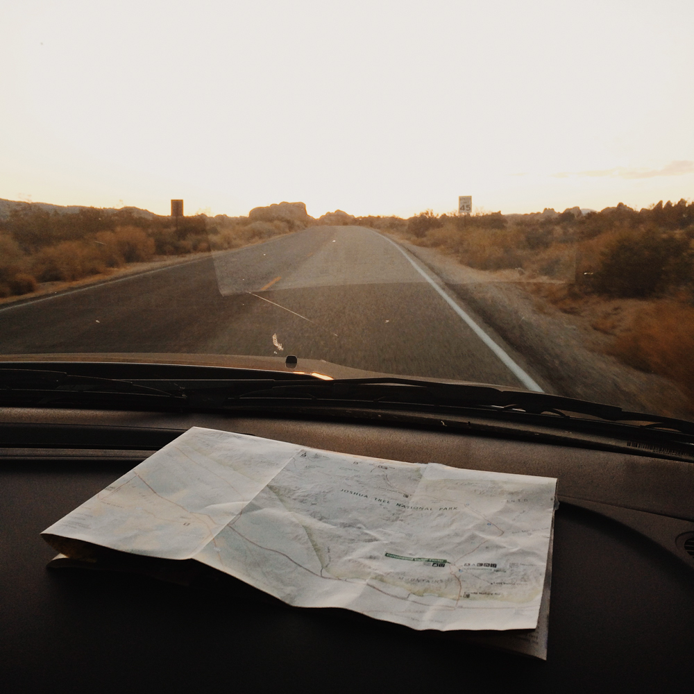 Out on the open road with nothing but a map to guide us <3