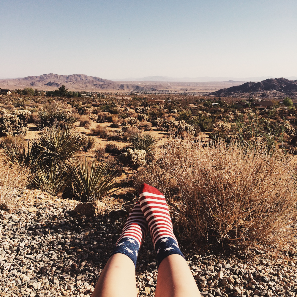 Celebrating the 4th of July in the desert.