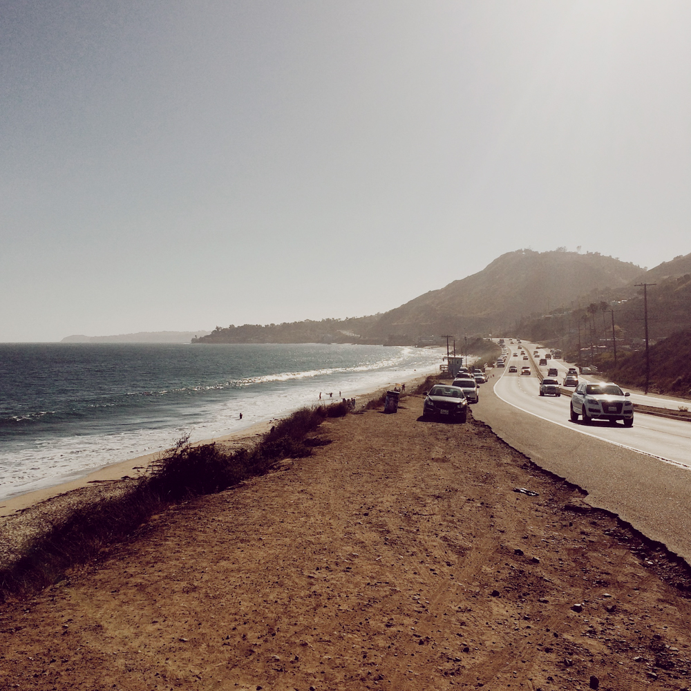 Somewhere on the side of the road in wonderful Malibu.