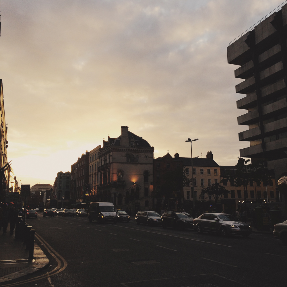 Sunset in Dublin.