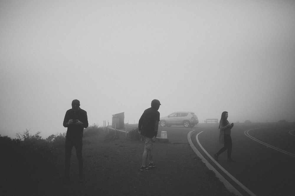 Wandering in the fog.
