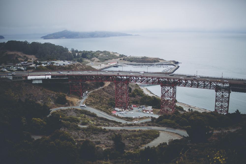 The start of the Golden Gate Bridge.