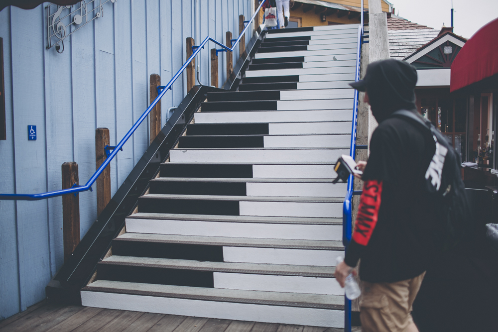 Piano stairs!! Hayden, Sam and myself ran up and down the stairs recording it on snapchat while Dan filmed us laughing at how silly we all looked.