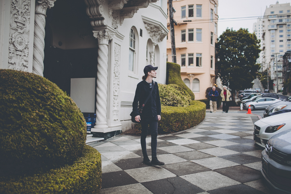 Walking around after visiting a way too busy Lombard Street.