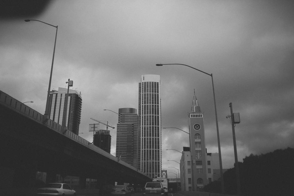 Driving through downtown San Francisco.