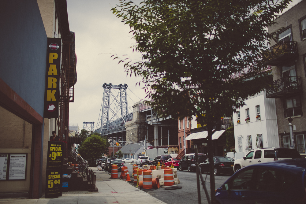A glimpse of Williamsburg Bridge.
