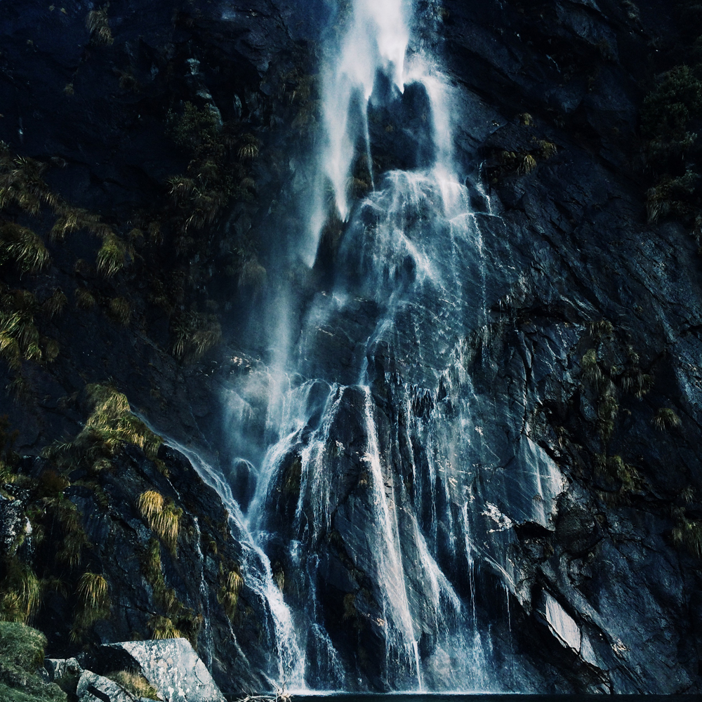 A secret waterfall in Wanaka.