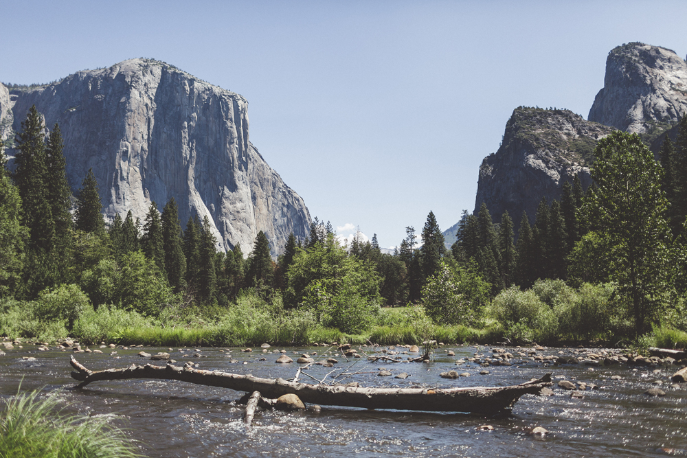 This is THE spot that Sam and I wanted to go to more than anything. Yosemite Valley is a gorgeous lookout from the bottom of a river and all the shots that made us want to come to Yosemite National Park were taken from here.