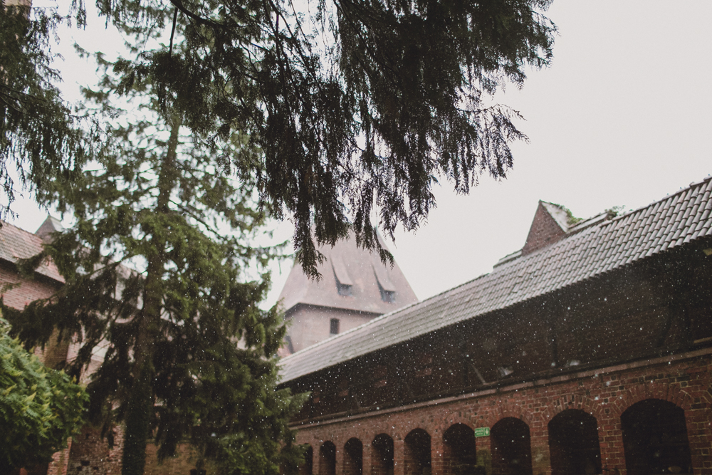 Visiting Malbork Castle, where it was so hot that day we were hit by a storm in the afternoon and spent the rest of day walking around in the rain.