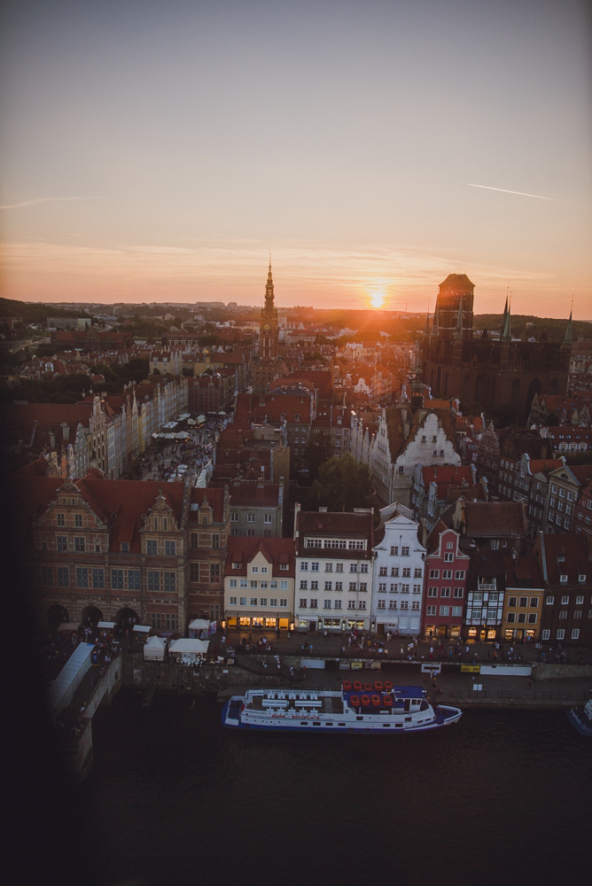 The view from the Gdansk Eye.