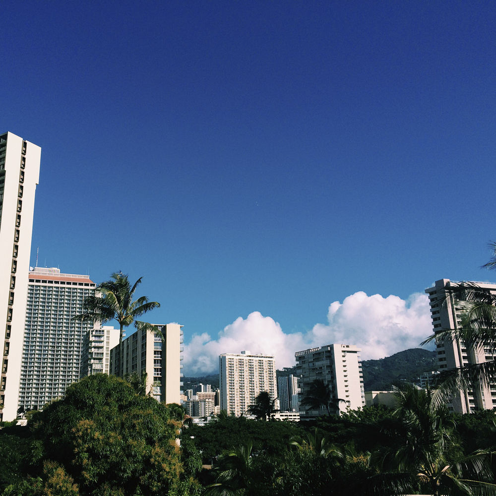Waikiki looking beautiful in the sunshine.