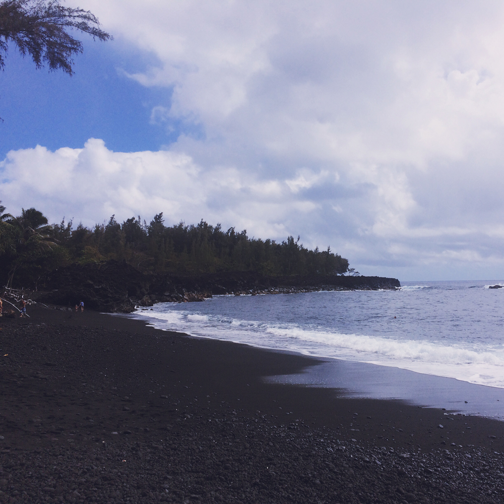 Morning spent at the black sand beach.