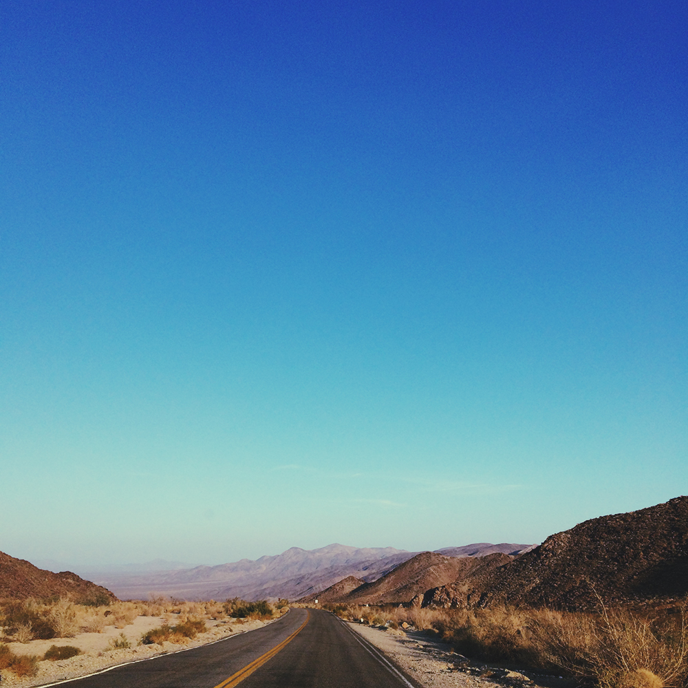 The never ending roads in Joshua Tree National Park.