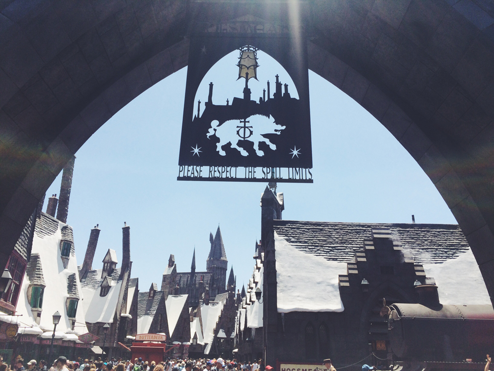 Harry Potter world in Universal Studios.