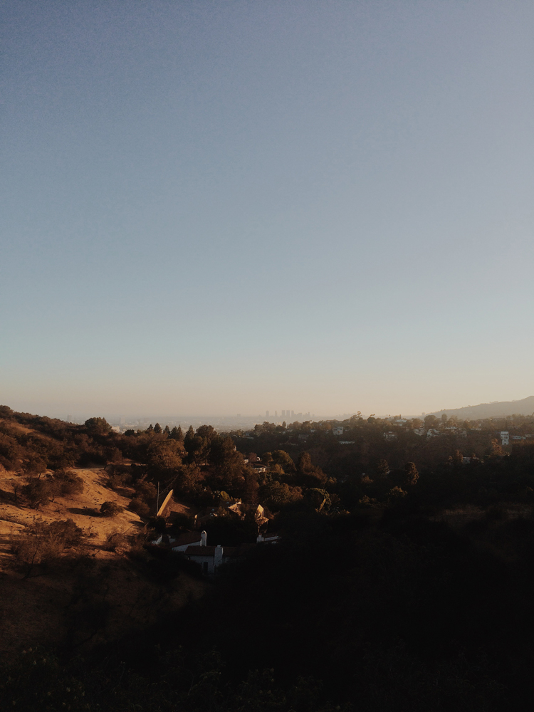 Sunset on the Hollywood Hills.