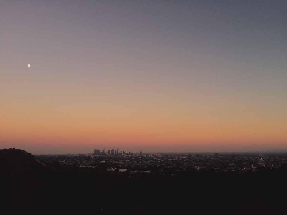 L.A. in the last light of the day.