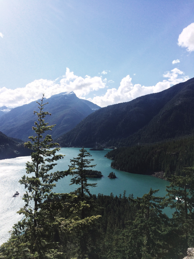 Back at Diablo Lake on our second day in North Cascades, this time we got to see the lake on a sunny day!
