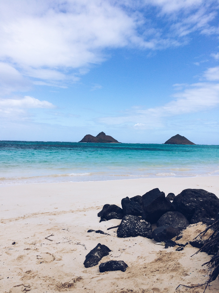 The beautiful Lanikai beach.