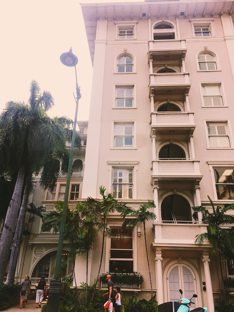 A beautiful building in Waikiki.