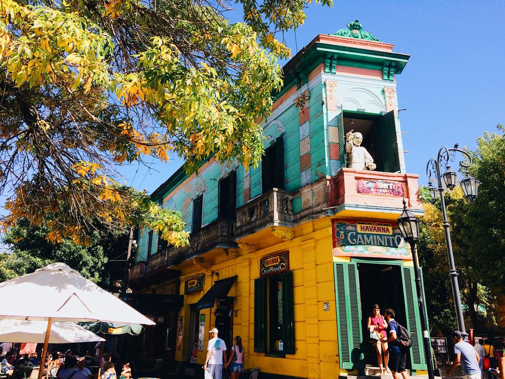 Visiting El Caminito in La Boca.