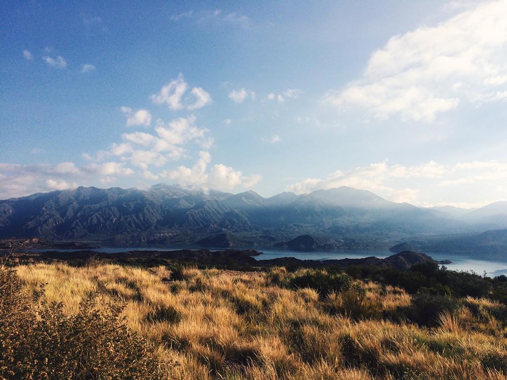 Los Potrerillos lake in the Andes of Mendoza.