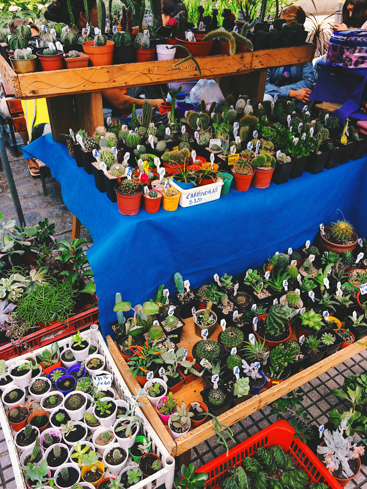 A market stall in Mar Del Plata.