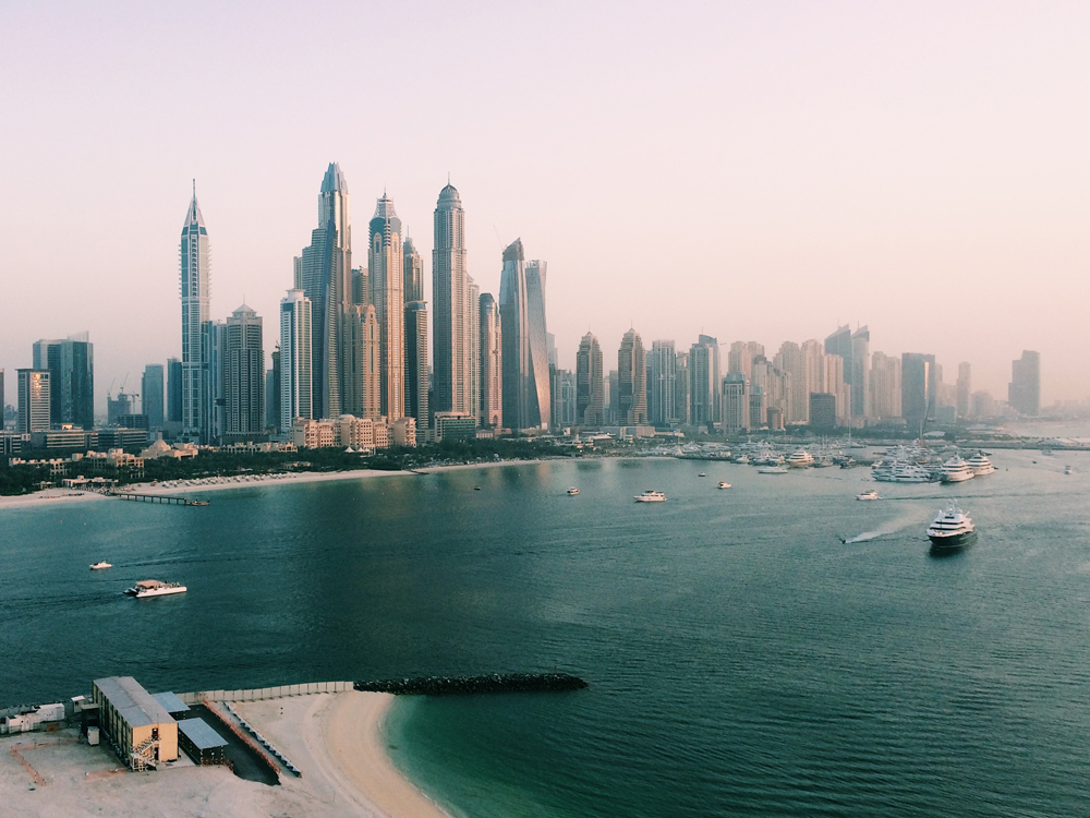 Views of Dubai from the Viceroy Hotel.